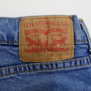 LEVI'S 511 Red Tab Blue Jeans Mens 34Wx32L